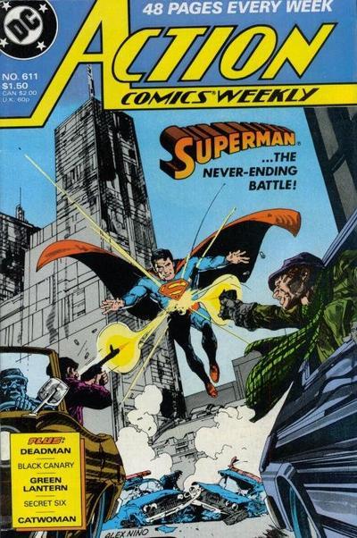USA, 1988 Superman, Green Lantern, Deadman Action Comics Weekly # 612