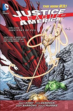 Cover for the Justice League of America: Survivors of Evil Trade Paperback