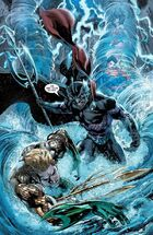 Ocean Master defeats his brother and the Trinity