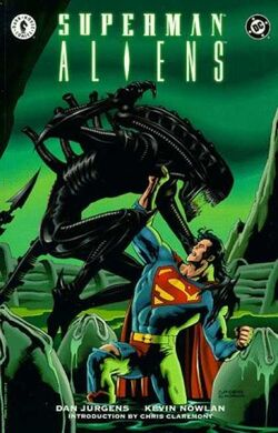 Cover for the Superman/Aliens Trade Paperback