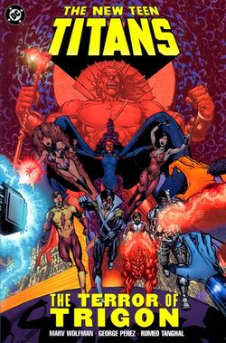 Cover for the New Teen Titans: The Terror of Trigon Trade Paperback