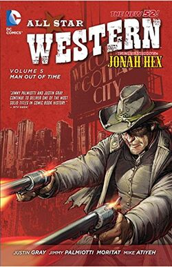 Cover for the All-Star Western: Man Out of Time Trade Paperback