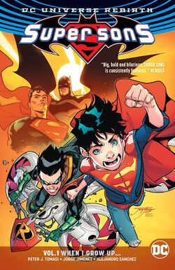 Cover for the Super Sons: When I Grow Up Trade Paperback