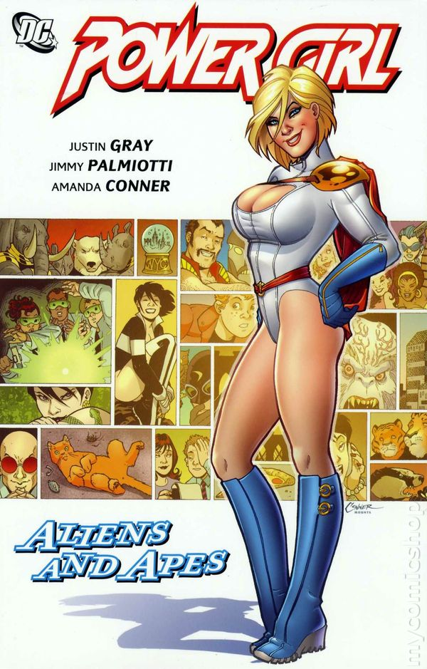 Cover for the Power Girl: Aliens and Apes Trade Paperback