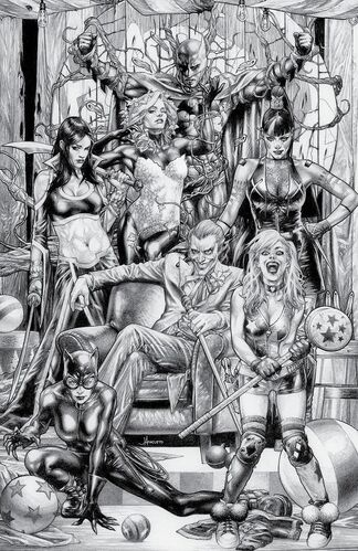 Unknown Comics Exclusive B&W Jay Anacleto Variant