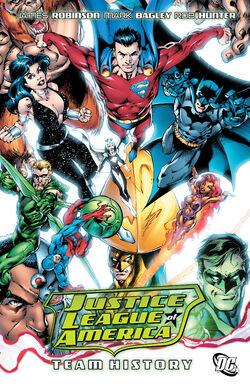 Cover for the Justice League of America: Team History Trade Paperback