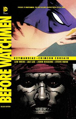 Cover for the Before Watchmen: Ozymandias/Crimson Corsair Trade Paperback
