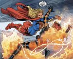 Supergirl engaging Savage Fire