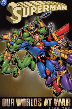 Cover for the Superman: Our Worlds at War Book Two Trade Paperback
