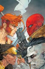 Artemis and Akila vs. Red Hood and Bizarro