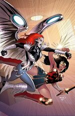 Wonder Woman battles Silver Swan