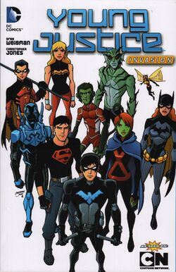 Cover for the Young Justice: Invasion Trade Paperback