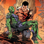 Superboy finds Beast Boy's corpse