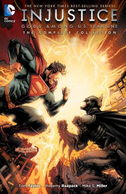 Cover for the Injustice: Gods Among Us Year One - The Complete Collection Trade Paperback