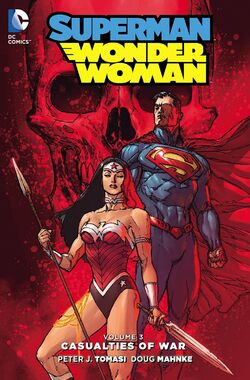 Cover for the Superman/Wonder Woman: Casualties of War Trade Paperback