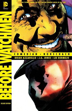 Cover for the Before Watchmen: Comedian/Rorschach Trade Paperback