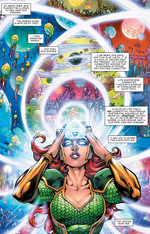 Mera speaks to all life in the universe through the Clarion