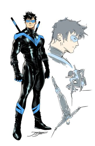 Textless 1:25 Nightwing Variant