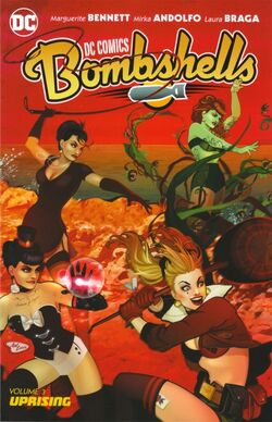 Cover for the DC Comics Bombshells: Uprising Trade Paperback