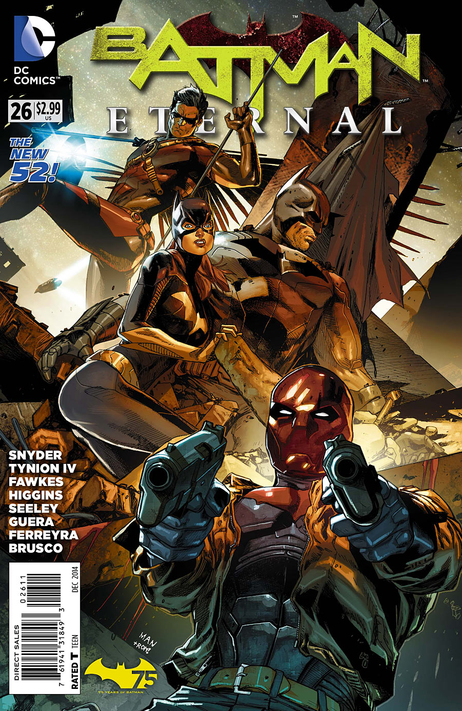 BATMAN ETERNAL #26 SCOTT SNYDER DEC 2014 HUSH RED HOOD DC NEW 52 NM COMIC BOOK 1