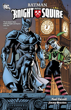 Cover for the Batman: Knight and Squire Trade Paperback
