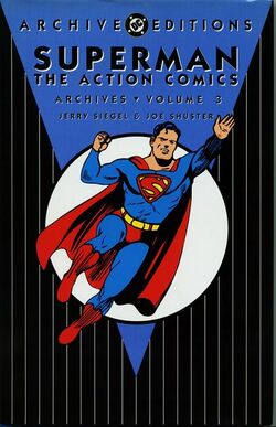 Cover for the Superman: The Action Comics Archives Vol. 3 Trade Paperback
