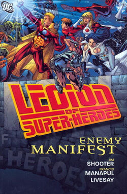 Cover for the Legion of Super-Heroes: Enemy Manifest Trade Paperback
