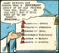 Shazam grants Mary Marvel her powers.