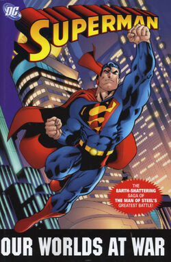 Cover for the Superman: Our Worlds at War Trade Paperback