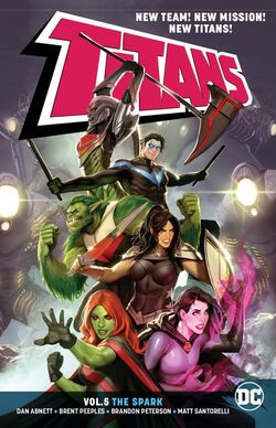 Cover for the Titans: The Spark Trade Paperback