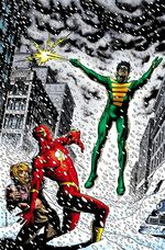 Flash fights the Weather Wizard