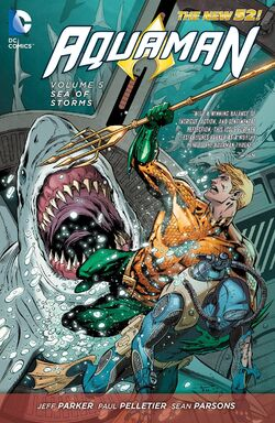 Cover for the Aquaman: Sea of Storms Trade Paperback