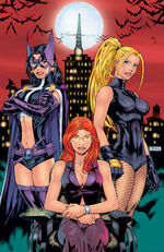 Huntress, Oracle, and Black Canary, the Birds of Prey