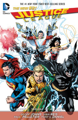 Cover for the Justice League: Throne of Atlantis Trade Paperback