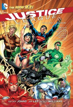 Cover for the Justice League: Origin Trade Paperback