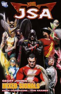 Cover for the JSA: Mixed Signals Trade Paperback