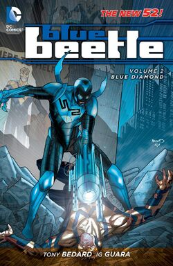 Cover for the Blue Beetle: Blue Diamond Trade Paperback