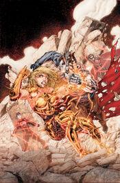 Wonder Girl versus Diesel.