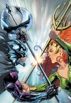 Orm and Mera, fighting for the throne of Atlantis