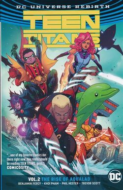 Cover for the Teen Titans: The Rise of Aqualad Trade Paperback