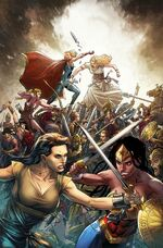 Diana escapes imprisonment from the Amazons