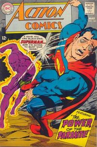 Superman fights the Parasite