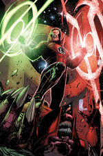 Guy Gardner as an agent of the Red Lantern Corps