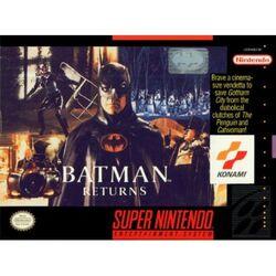 Batman Returns SNES Box