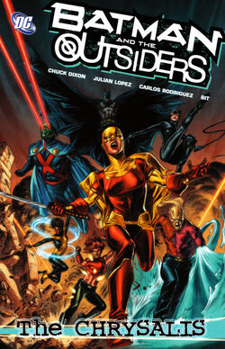 Cover for the Batman and the Outsiders: The Chrysalis Trade Paperback