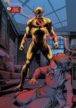 Reverse-Flash about to kill Flash's mother