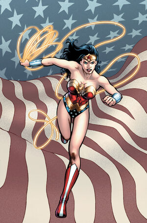 Wonder Woman represents Themyscira and the United States as an international diplomat.
