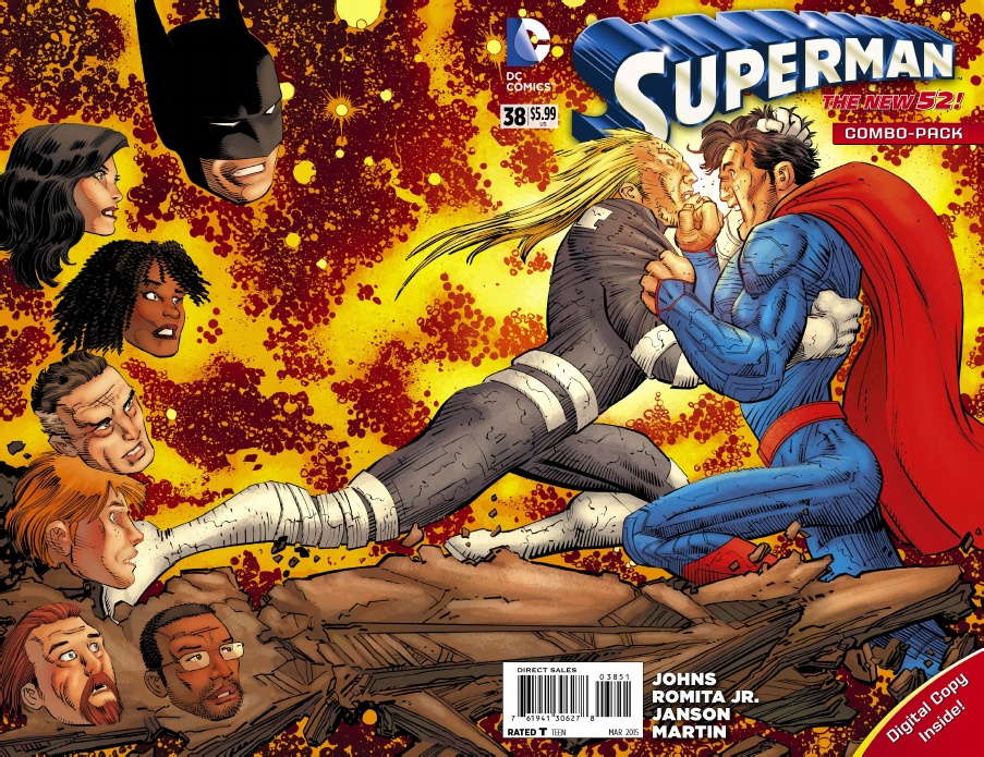 SUPERMAN #38 BOTH COVERS FLASH VARIANT NEW POWERS AS SEEN IN THE NEWS HOT 1 2015