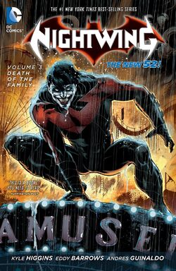 Cover for the Nightwing: Death of the Family Trade Paperback