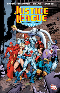 Cover for the Justice League International: Volume Five Trade Paperback
